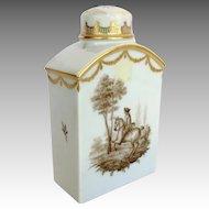 Royal Copenhagen Horse Rider Porcelain Tea Caddy