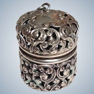Thimble Case 'Gertrude' Sterling Unger Brothers Circa 1900
