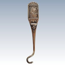 Glove Button Hook Sterling Whiting Egyptian