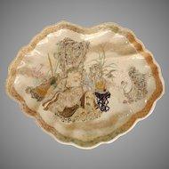 "Japanese Satsuma 14"" Tray Circa 1880's"