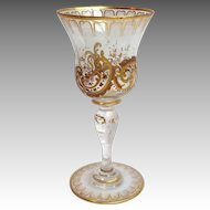 Antique Enameled And Gilded Wine Glass