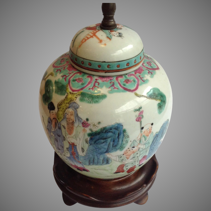 Antique Chinese Ginger Jar Lamps