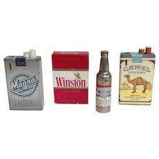 Group of 4 Vintage Advertising Butane Lighters