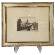 Drawing Medieval Tower Framed