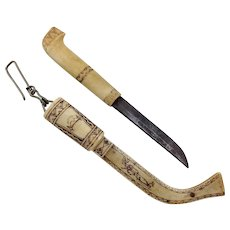 Artic Reindeer Souvenir Knife