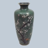 Ando Japanese Cloisonne Vase Silver Wire