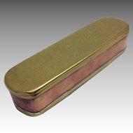 Dutch Tobacco Box18th Century Brass And Copper