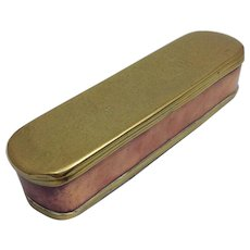 Dutch Tobacco Box18th Century Brass And Copper