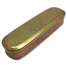 Dutch Tobacco Box 18th Century Copper And Brass