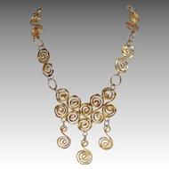 "Spiral Gold Studio Necklace 28"""