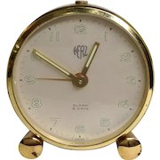 Swiss Herz Art Deco Alarm Clock 8 Days