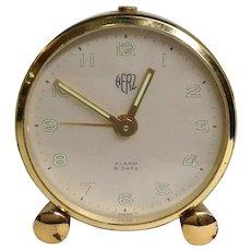 Swiss Herz Art Deco Alarm Clock 8 Days