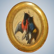 Trompe L'oeil  Painting Hanging Game by M. Meucci c 1877