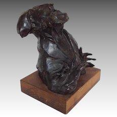 """David Aronson """"Rabbi"""" Bronze Sculpture"""
