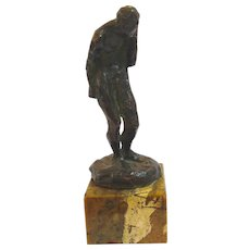 Male Nude Bronze by Edgar Stouffer Baltimore