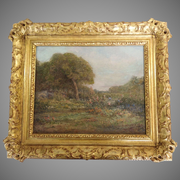 595c525fdc19 California Landscape Oil by Mary Amanda Lewis San Francisco   Antiques Of  River Oaks