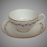 Oversized English Breakfast Cup and Saucer Antique Porcelain