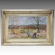 Oil Painting Virginia Hunt Scene by  L. Bouche
