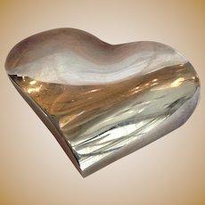 Christofle Heart Paperweight Silverplate