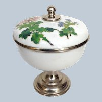 Japanese Cloisonne Compote Covered 1950s