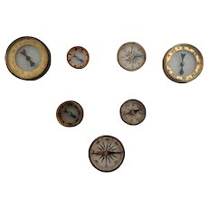 Seven Compasses Antique 19th Century
