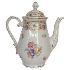 """Schumann Empress Dresden Flowers Coffee Pot 9"""""""