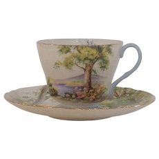 Shelley Woodland Scenic Woods Tea Cup and Saucer