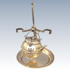 Kettle Tea Ball on Stand Simmons Sterling