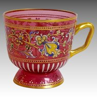 Moser Enameled Glass Cup 19th c