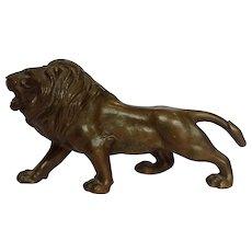 Japanese Bronze Lion Statue