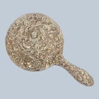 S. Kirk & Son Repousse Hand Mirror Sterling