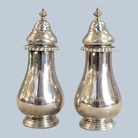 "Gorham Sterling Salt & Pepper English Gadroon 5"" Shakers"