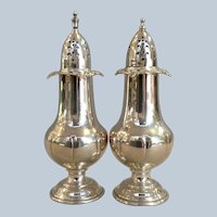 Wallace Grand Baroque Sterling Silver Salt & Pepper Shakers