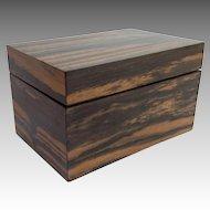 "Antique Calamander Wood Box 6"""