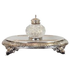 Elephant Ink Stand Sterling English 1879