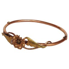 Victorian Gold Filled Bangle 19th c.