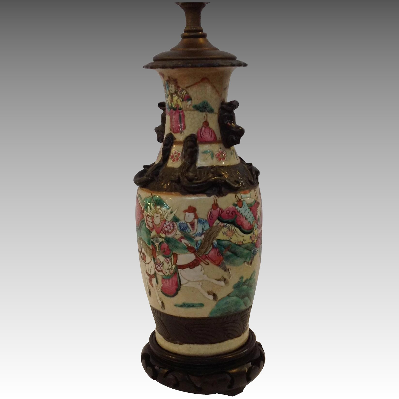 Chinese warrior lamp antique vase antiques of river oaks ruby lane chinese warrior lamp antique vase click to expand reviewsmspy