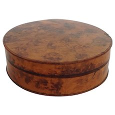 Burled Snuff Box with Horn Lining Antique
