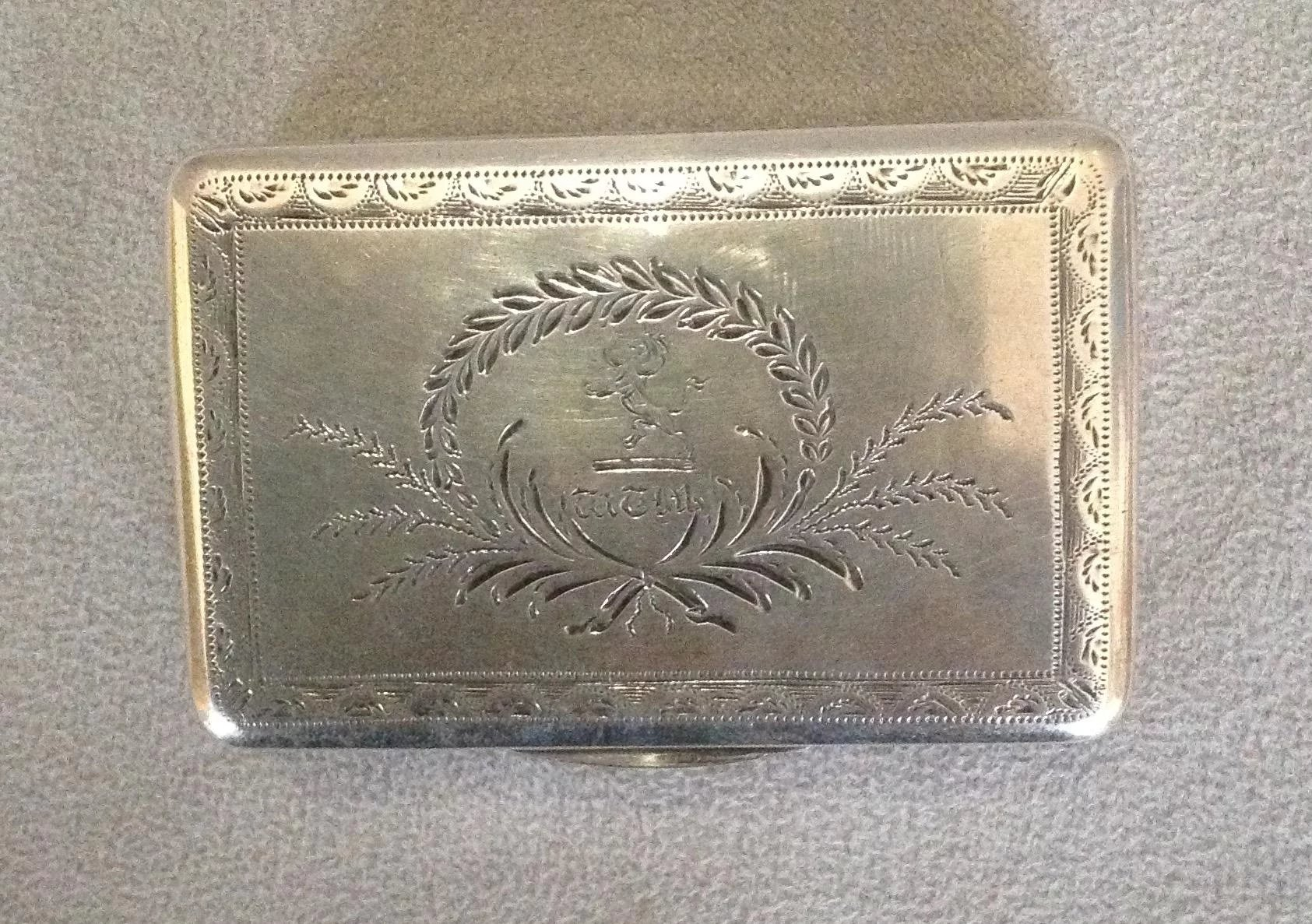 how long will it take a letter to arrive georgian sterling snuff box antiques of river 22166