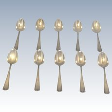 Gorham Sterling Etruscan Demitasse Spoons Group of 10 No Mono