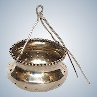 Tea Ball Spout Strainer Wood and Hughes Sterling