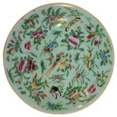 "Korean Celadon Plate 9"" Antique"