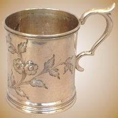 Antique Coin Silver Child's Cup George Doty Detroit 19th c.