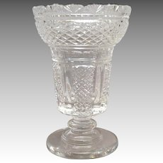 """Waterford Master Cutter Hibernia Vase Footed 8 1/2"""""""