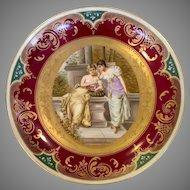 "Royal Vienna Charger The Love Secret 13"" Austria"