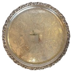 Round Tray Ellis Barker Silver Plate 16""