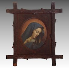 Madonna Portrait Black Forest Frame