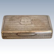 American Coin Silver Patch Box