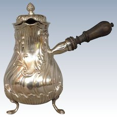 Veyrat Chocolate Pot 950 Silver Paris 19th Century