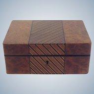 Dunhill Burl Wood Box Secret Opening London